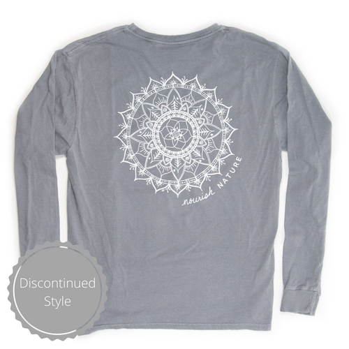 Unisex Nourish Nature Long-Sleeved Crew, Steel Grey (provides 14 meals)