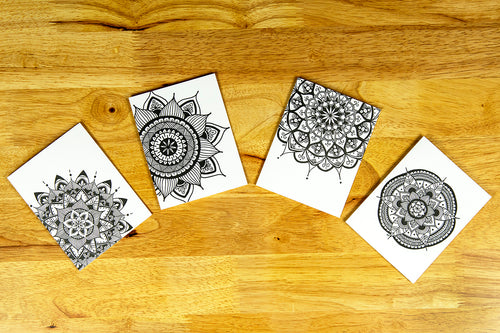 Mandala Notecard Set (provides 6 meals)