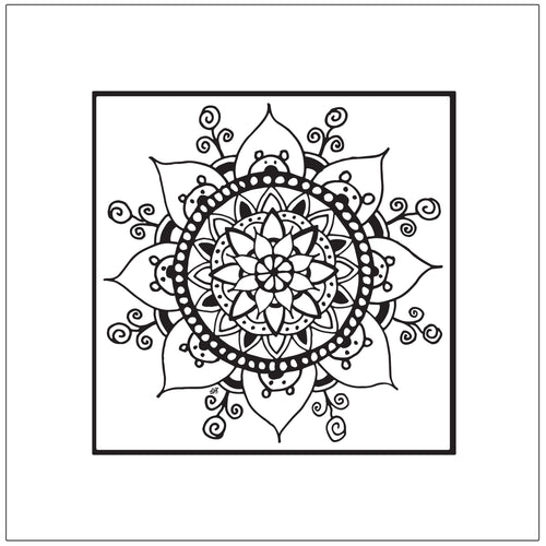 Peek-a-Boo Bear Mandala Art Print (provides 36 meals)