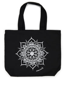 Black Nourish Canvas Tote (provides 10 Meals)