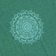 Load image into Gallery viewer, Unisex Mandala T-Shirt Green Crew T-Shirt (provides 12 meals)