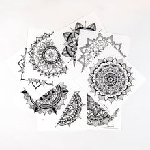 Load image into Gallery viewer, Mandala Coloring Cards (provides 4 meals)