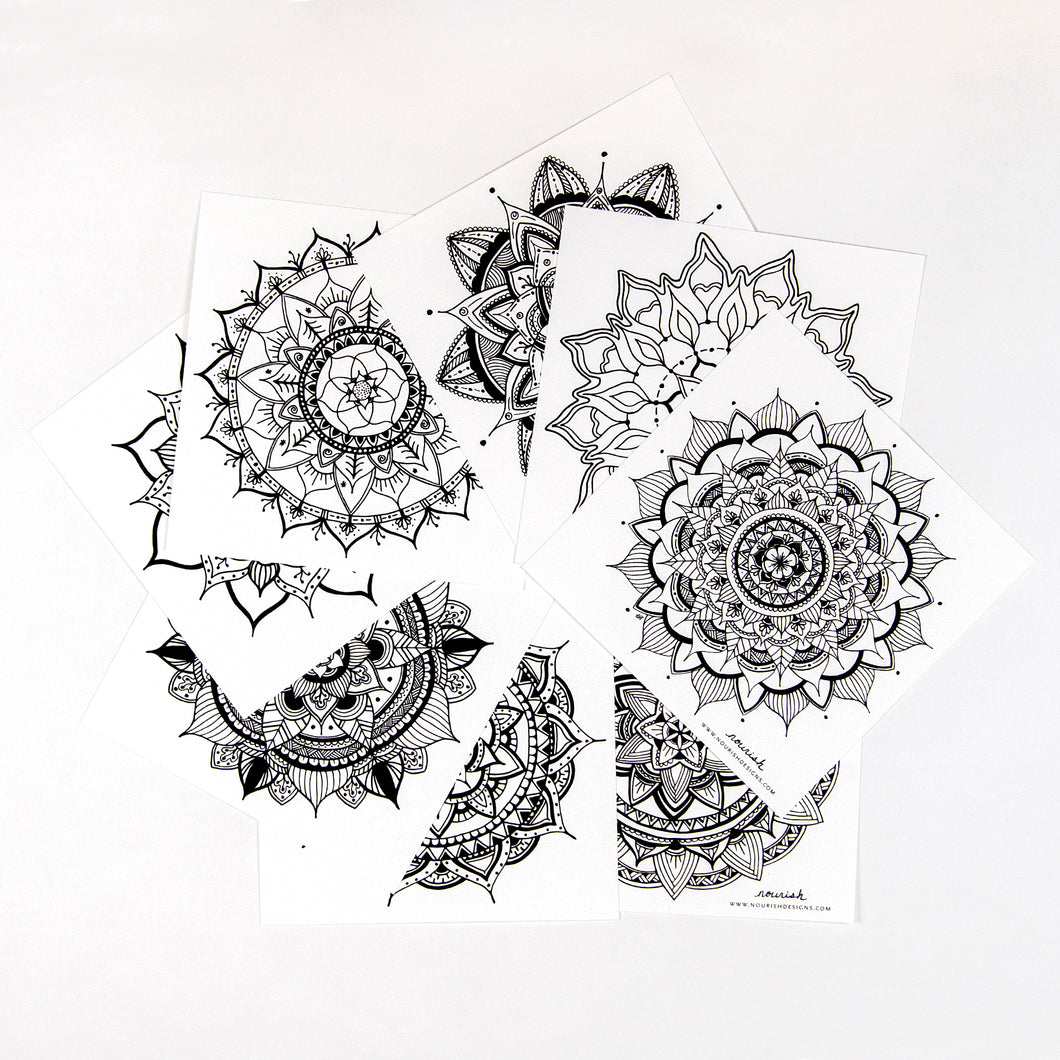 Mandala Coloring Cards (provides 4 meals)