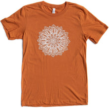 Load image into Gallery viewer, Unisex Pumpkin Mandala Crew T-Shirt (provides 12 meals)