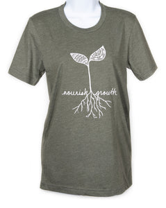 Unisex Nourish Growth Crew T-Shirt (provides 12 meals)