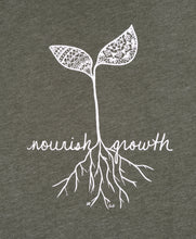 Load image into Gallery viewer, Unisex Nourish Growth Crew T-Shirt (provides 12 meals)