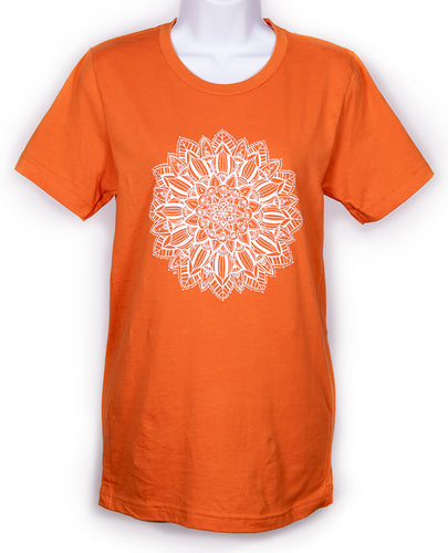 Unisex Pumpkin Mandala Crew T-Shirt (provides 12 meals)