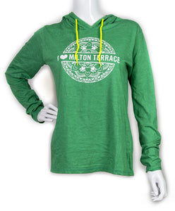 Milton Terrace Women's Long-sleeved Hooded T-shirt (provides 20 meals)