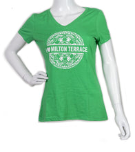 Load image into Gallery viewer, Milton Terrace Women's V-neck T-shirt (provides 16 meals)