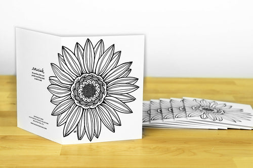 Flower Note Card Set (provides 8 meals)