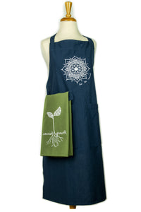 "Navy ""live, love, nourish"" Apron (provides 14 meals)"