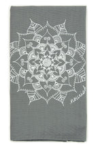 Load image into Gallery viewer, Gray Mandala Kitchen Towel (provides 6 meals)