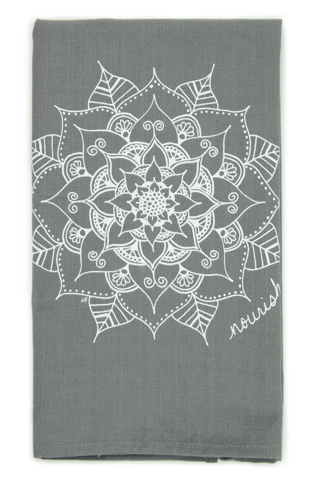 Gray Mandala Kitchen Towel (provides 6 meals)
