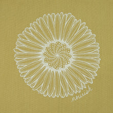 Load image into Gallery viewer, Gold Daisy Mandala Kitchen Towel (provides 6 meals)