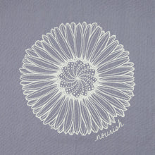 Load image into Gallery viewer, Lavender Daisy Mandala Kitchen Towel (provides 6 meals)
