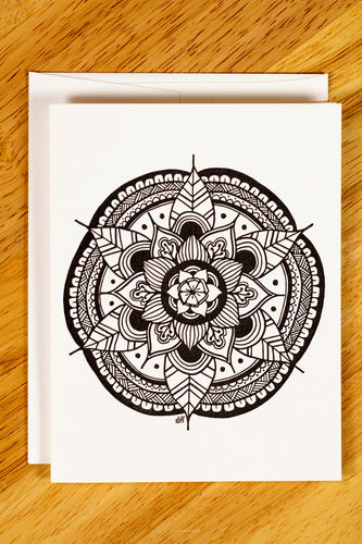 Emerging Mandala Note Card Set (provides 6 meals)