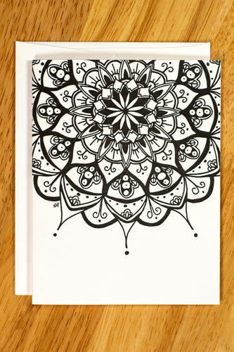 Peapod Mandala Note Card Set (provides 6 meals)