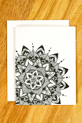 Layered Petals Mandala Notecard Set (provides 6 meals)