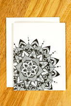 Load image into Gallery viewer, Mandala Notecard Set (provides 6 meals)