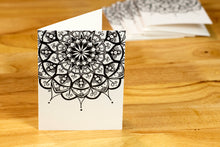 Load image into Gallery viewer, Peapod Mandala Note Card Set (provides 6 meals)
