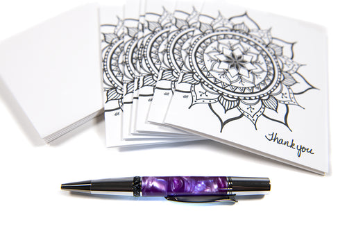 Mix and Match Notecards & Handcrafted Pen Bundle (provides 32 meals)