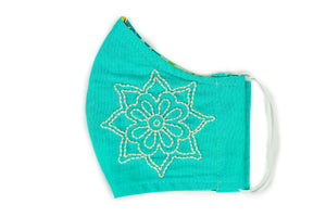 Embroidered Mandala Face Covering (provides 6 meals)