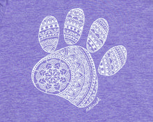 Load image into Gallery viewer, Women's Mandala Paw Long-sleeved Athletic Crew (provides 16 meals for kids)