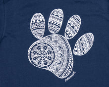 Load image into Gallery viewer, Unisex Mandala Paw Long-Sleeved Crew Tee (provides 14 meals)