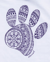 Load image into Gallery viewer, Kids' Mandala Paw Raglan Tee (provides 8 meals)