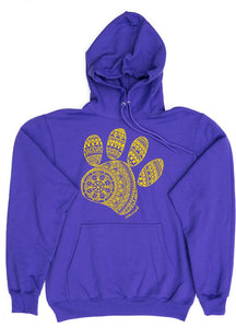 Unisex Mandala Paw Hooded Sweatshirt (provides 20 meals)