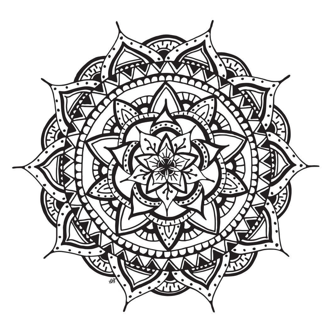 nourish designs, mandala coloring page,