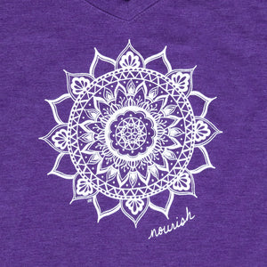Women's Purple V-neck Tee (provides 12 meals)
