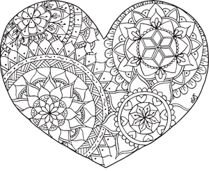 Free Downloadable Coloring Page - Heart
