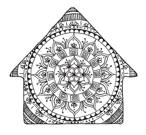 Free Downloadable Coloring Page - House
