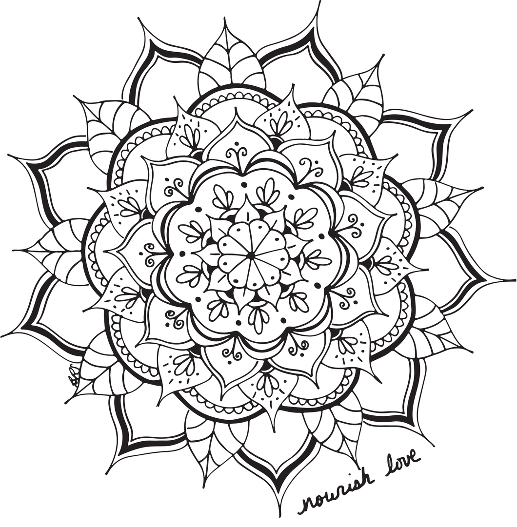 Free Downloadable Coloring Page - Nourish Love