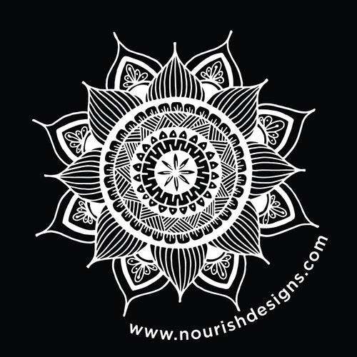 Clear Mandala Sticker (provides 1 meal)