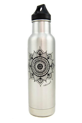 Insulated Mandala Water Bottle (provides 14 meals)