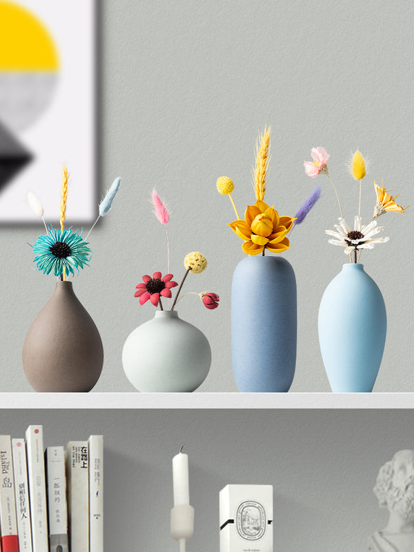 Nordic Macaroon Color Ceramic Mini Flower Vase Home Decor Handcrafts 002 - GIFT4U