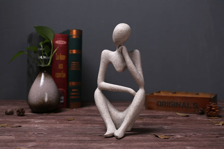 Abstract Character Thinker Statue/Sculpture,  European Style, - GIFT4U