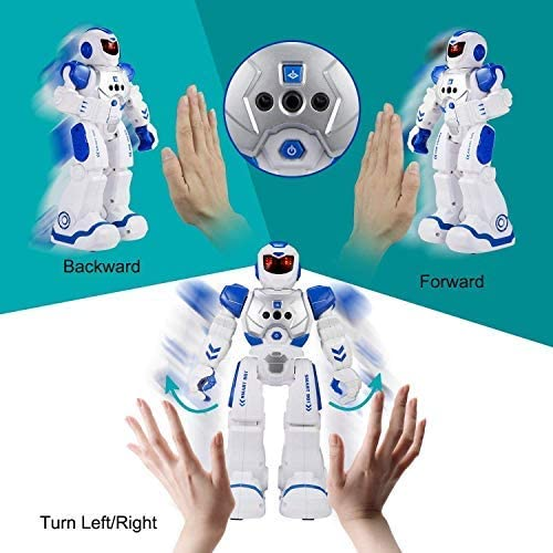 Gesture Sensing and Remote Control Robot for Kids, boys girls(Blue)