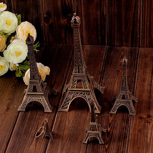 Eiffel Tower Statue Decor Alloy Metal, Bronze, 32cm, 25cm - GIFT4U