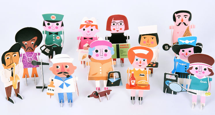 OMM Design: puzzle figurki 3D Character Parade