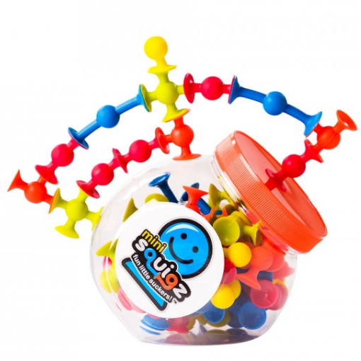 Fat Brain Toys: przyssawki mini Squigz 75 el.