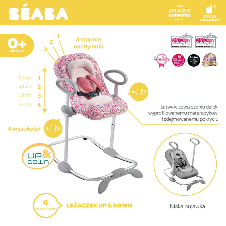 Beaba: leżaczek Up & Down Bouncer III
