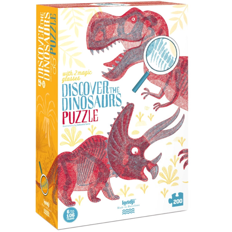 Londji: puzzle z foliami Discover the Dinosaurs 200 el.