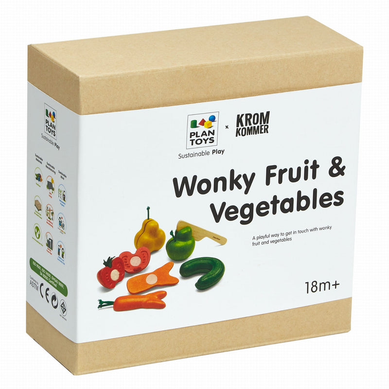 Plan Toys: niedoskonałe warzywa i owoce do krojenia Wonky Fruits & Vegetables
