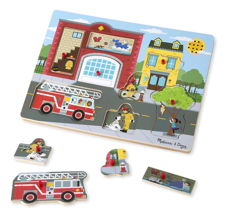 Melissa & Doug: puzzle dźwiękowe strażacy Around the Fire Station