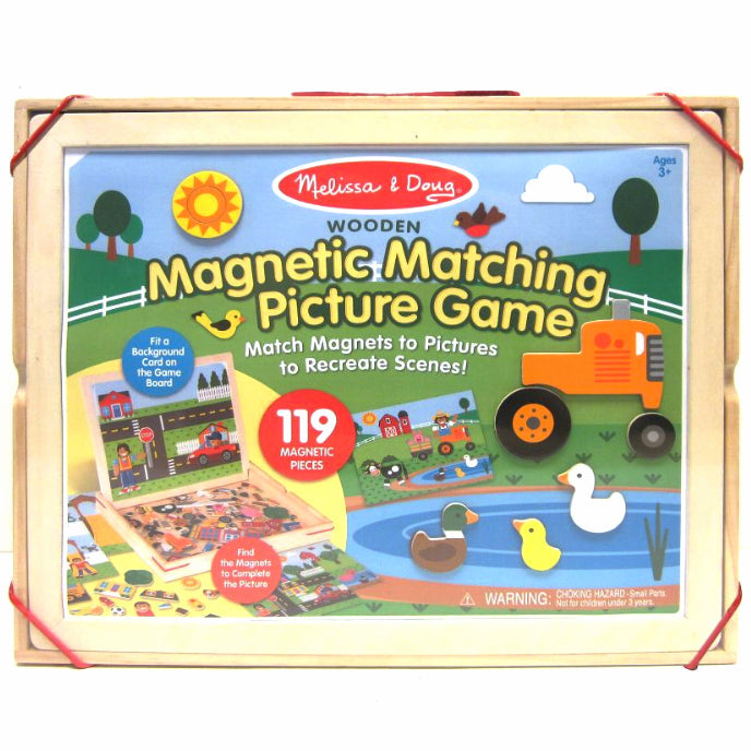 Melissa and Doug: drewniane magnesy Matching Picture Game