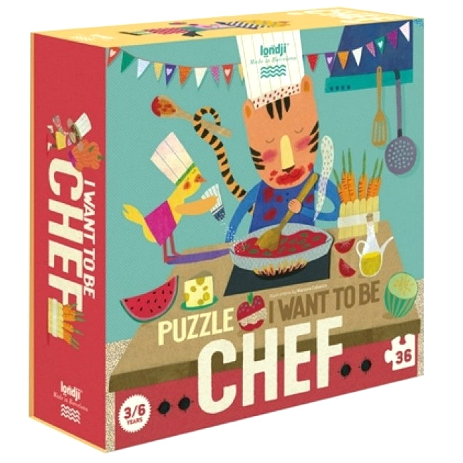 Londji: puzzle I want to be a Chef 36 el.
