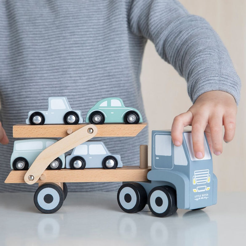 Little Dutch: laweta z autkami Transport Truck